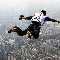 BASE-джампинг. BASE-jump.